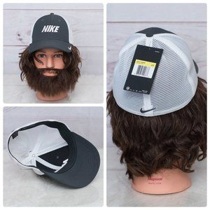 Nike Gray & White Trucker Hat New With Tags Men's